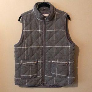 thread & supply grey plaid vest